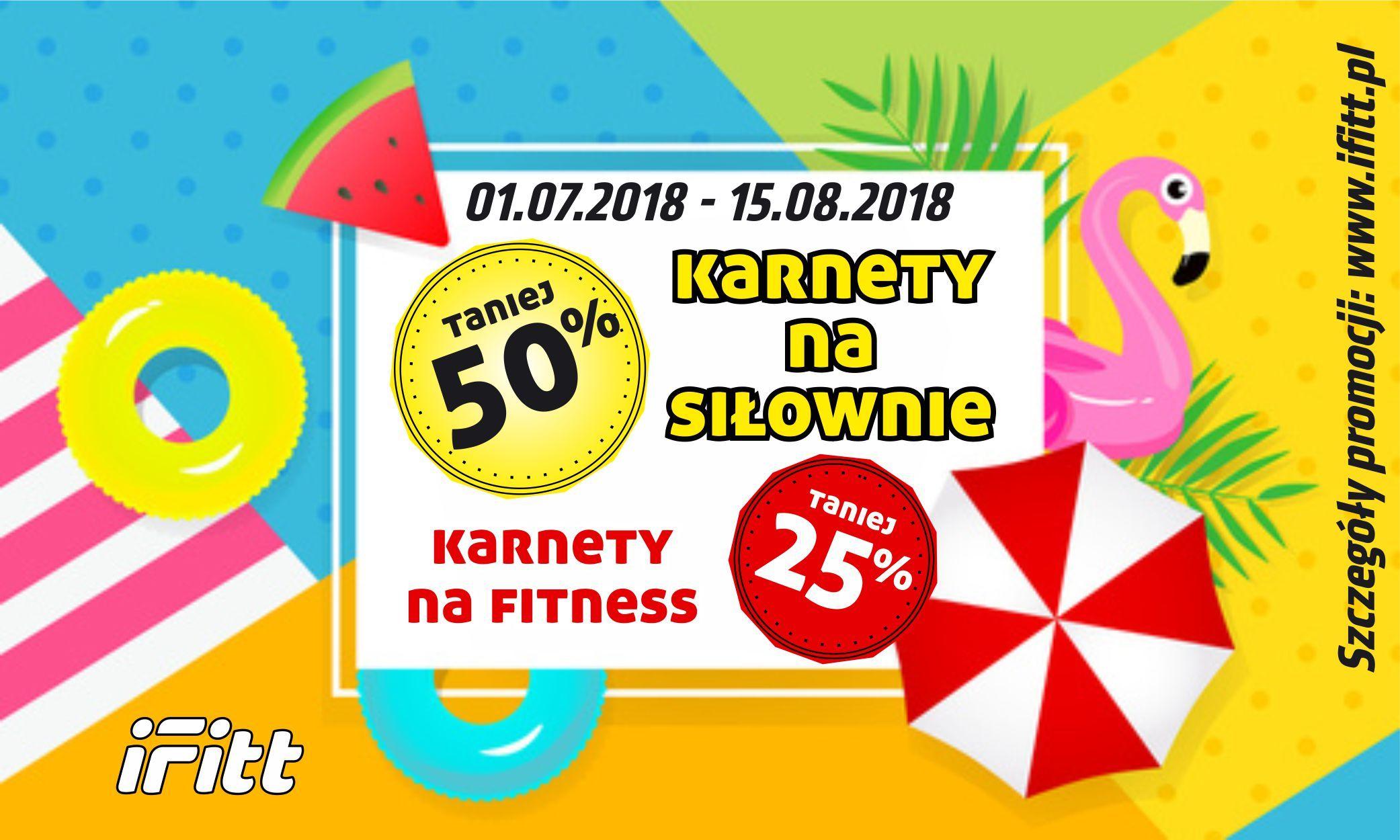 JUŻ WYSTARTOWAŁO - SUMMER SALE IFITT -50% NA KARNETY!!
