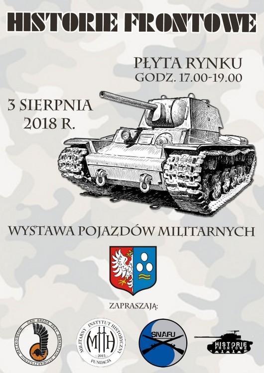 Wystawa sprzętu wojskowego na rynku