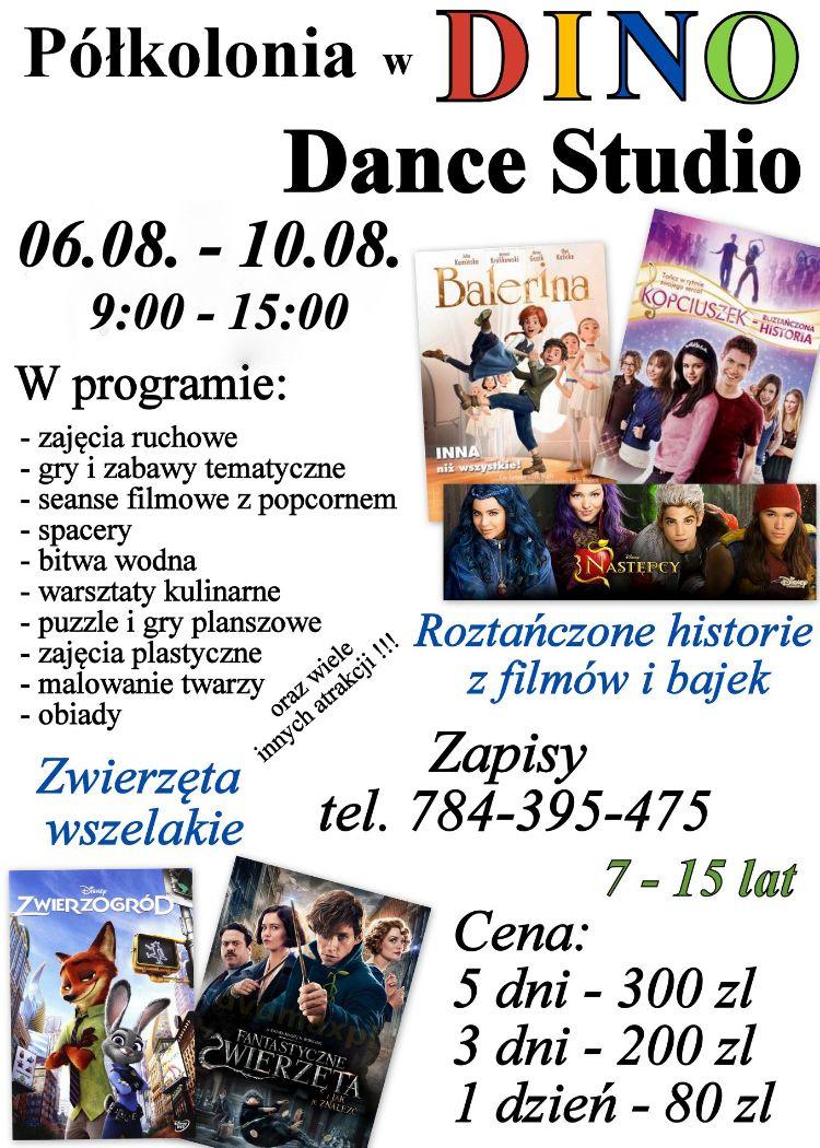 Półkolonia w Dino Dance Studio w Andrychowie