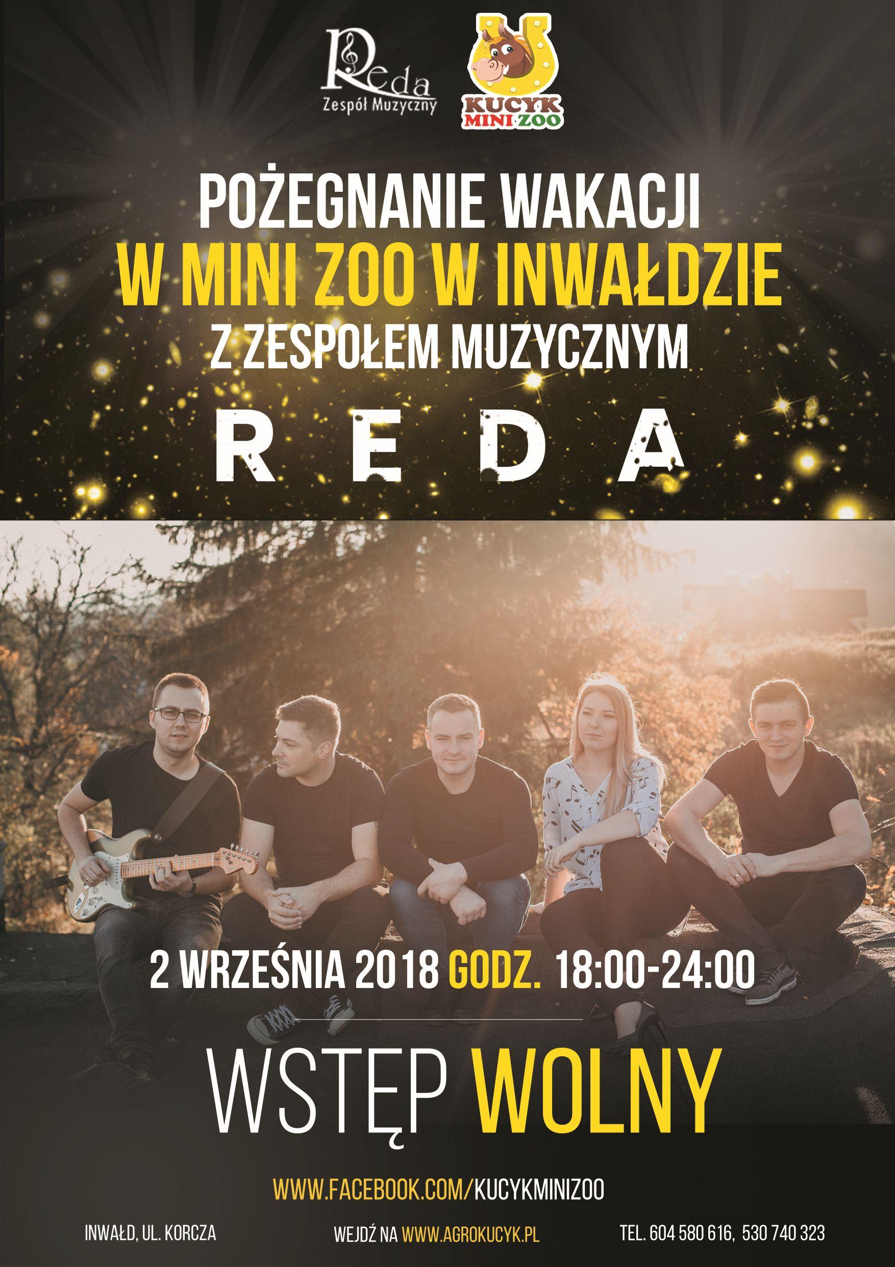 Pożegnanie wakacji z zespołem REDA w Mini Zoo w Inwałdzie!