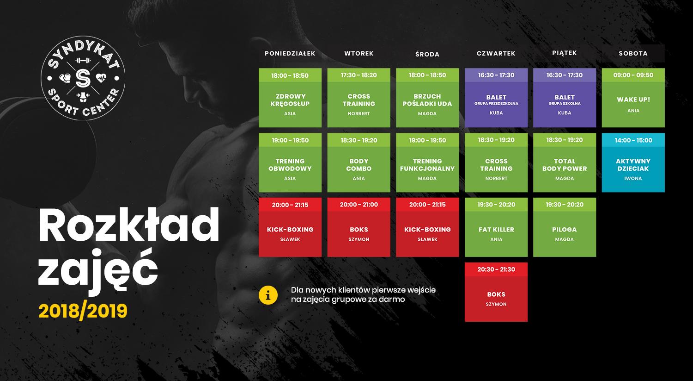 Witaj wrześniu! Zobacz nowy grafik zajęć klubu fitness Syndykat