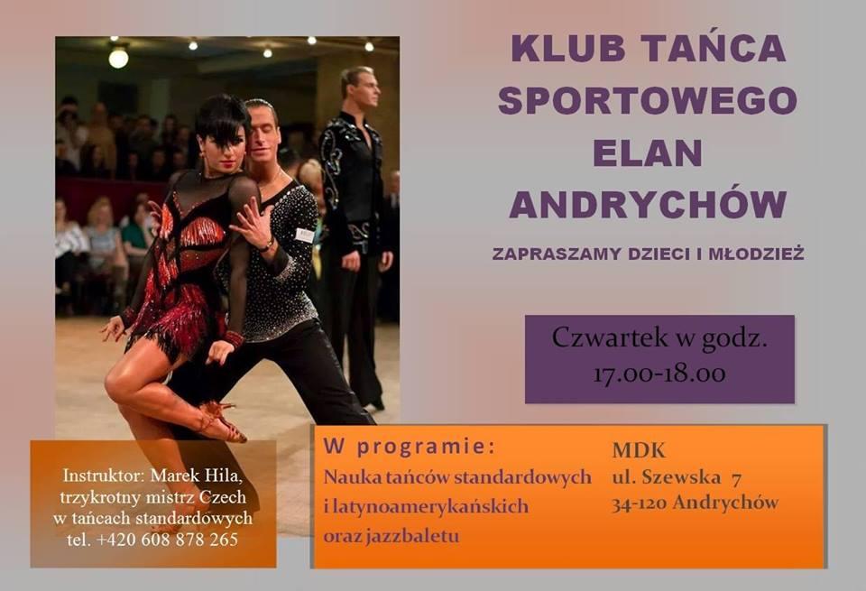Klub tańca sportowego ELAN Andrychów zaprasza!