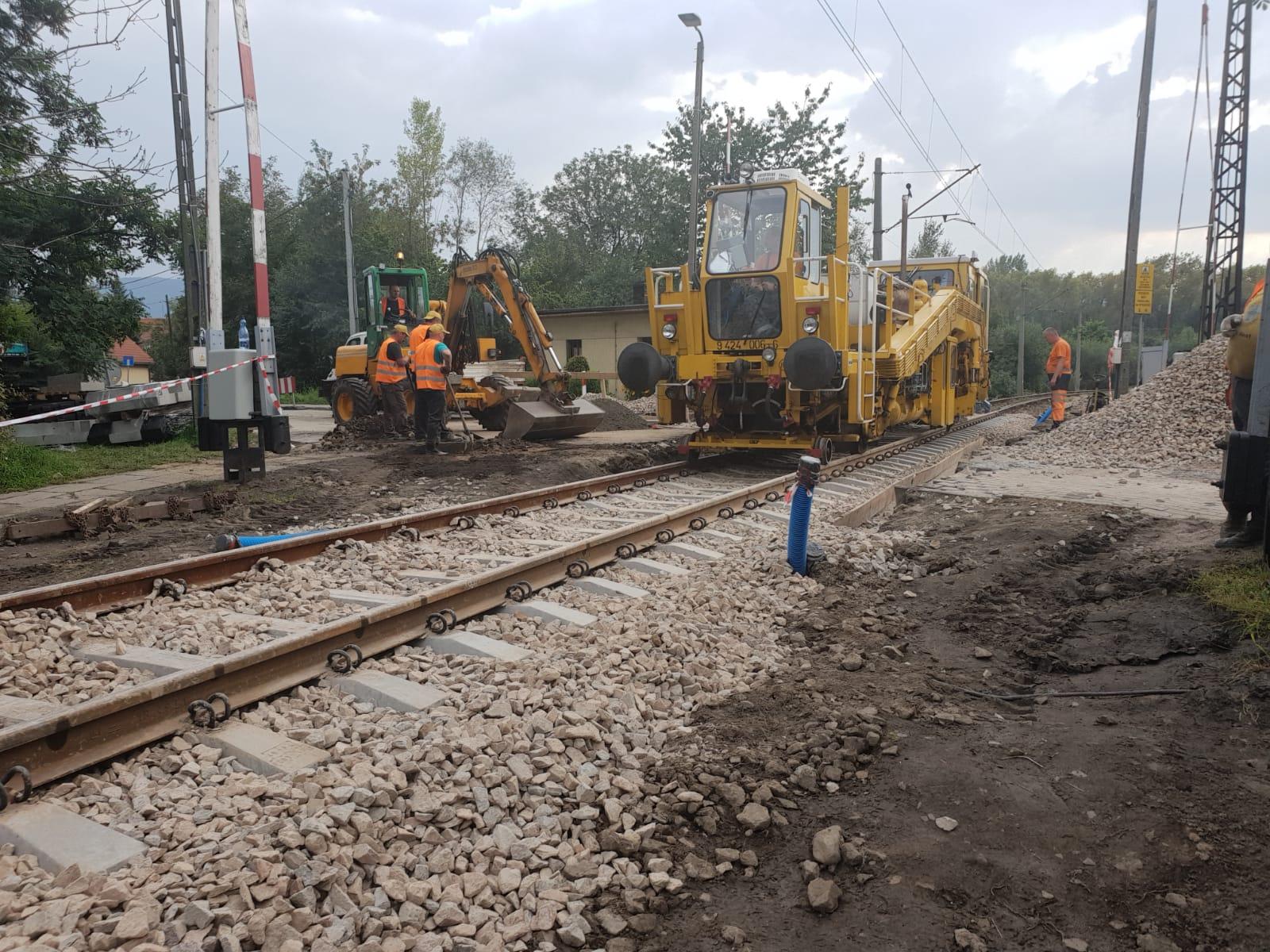 Kończą remont przejazdów w Andrychowie, od poniedziałku zamknięty przejazd w Kętach Podlesiu [FOTO]
