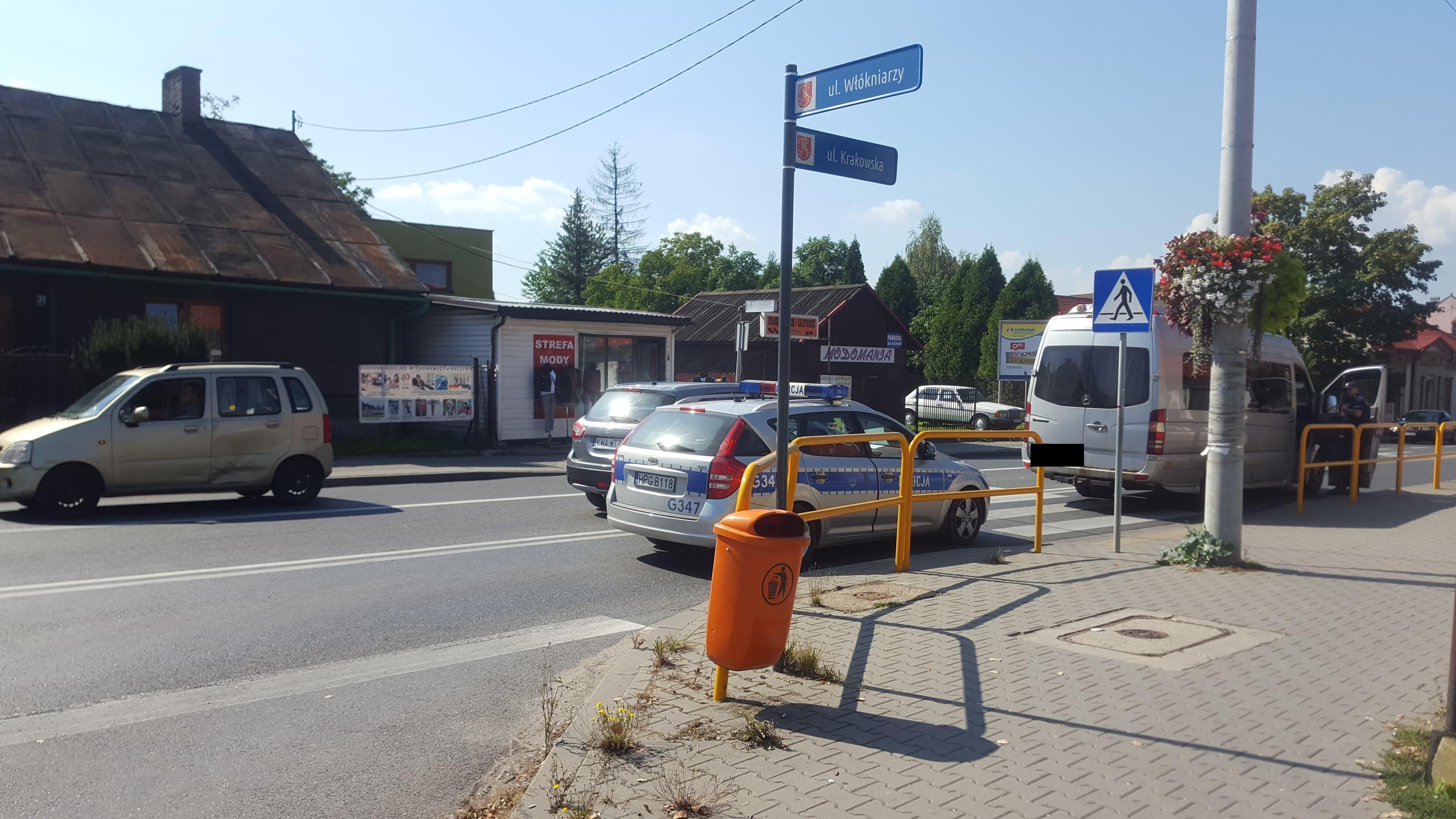 Potrącenie na Krakowskiej w Andrychowie