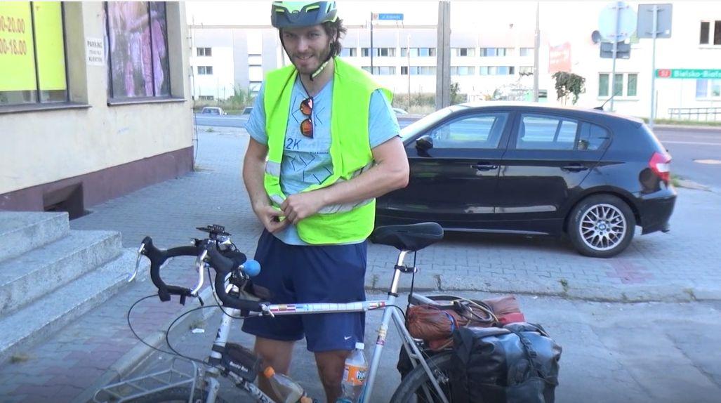 Andrychów na trasie podróżnika z Kanady [VIDEO]