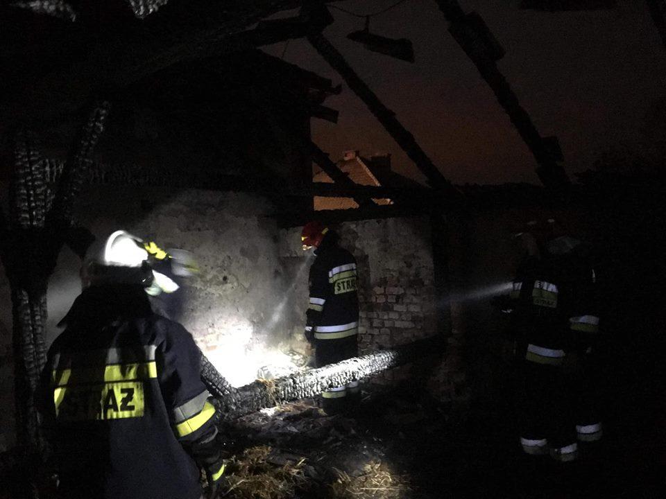 W nocy palił się budynek w Bulowicach