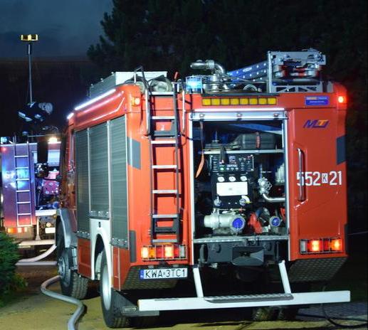 Strażacy zostali wezwani (jak się wydawało) do groźnego pożaru