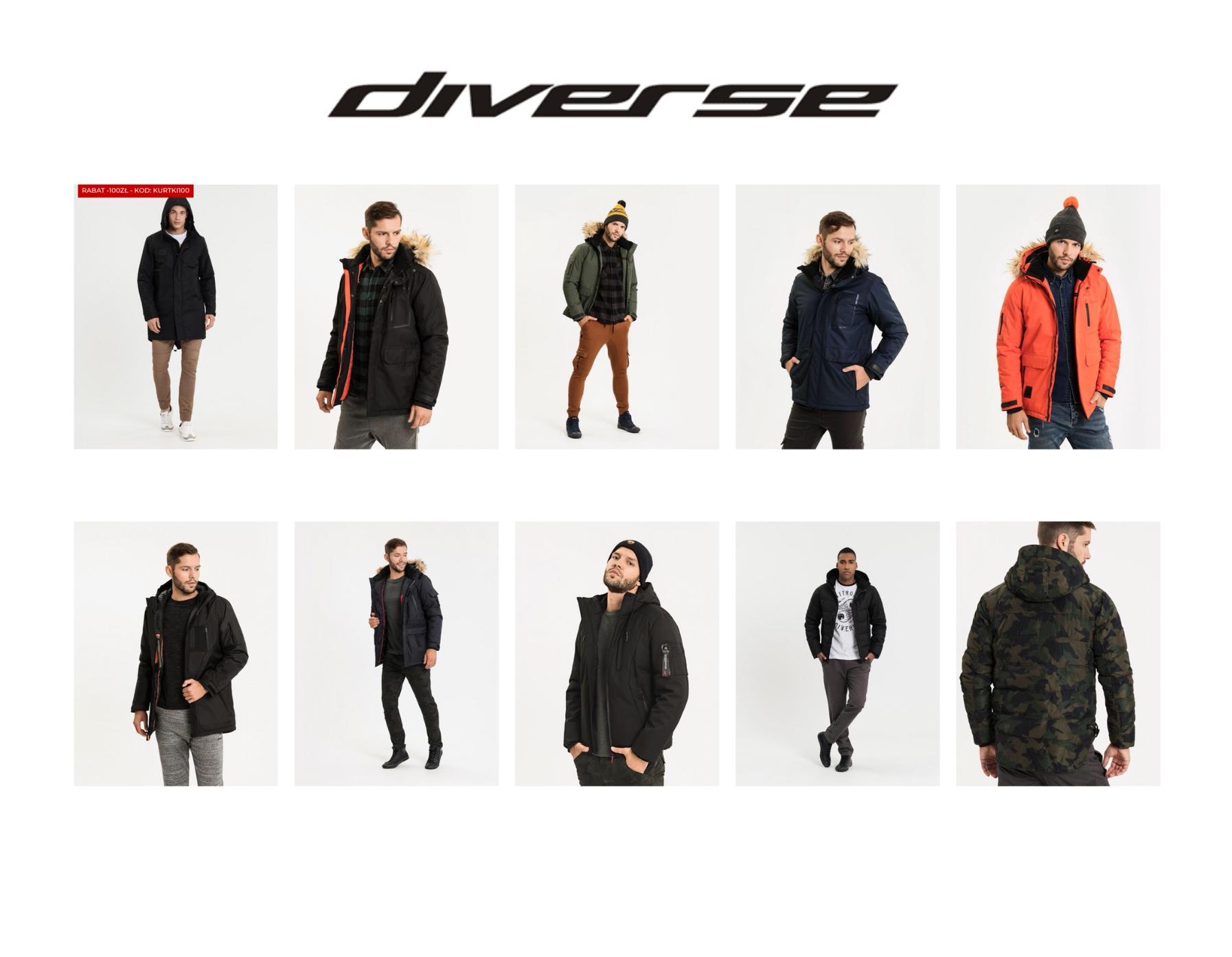 Nowa dostawa kurtek w salonie Diverse w Parku KOŚCIUSZKI. Sprawdź nasze nowości!