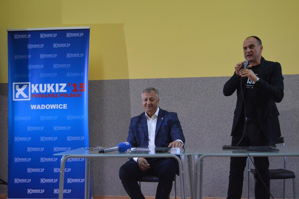 Paweł Kukiz ponownie w Wadowicach. Promuje kandydata na burmistrza