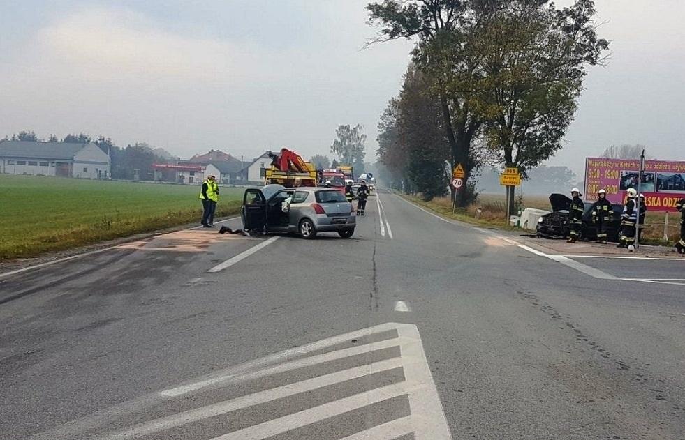 Wypadek na drodze wojewódzkiej Kęty - Oświęcim [AKTUALIZACJA]