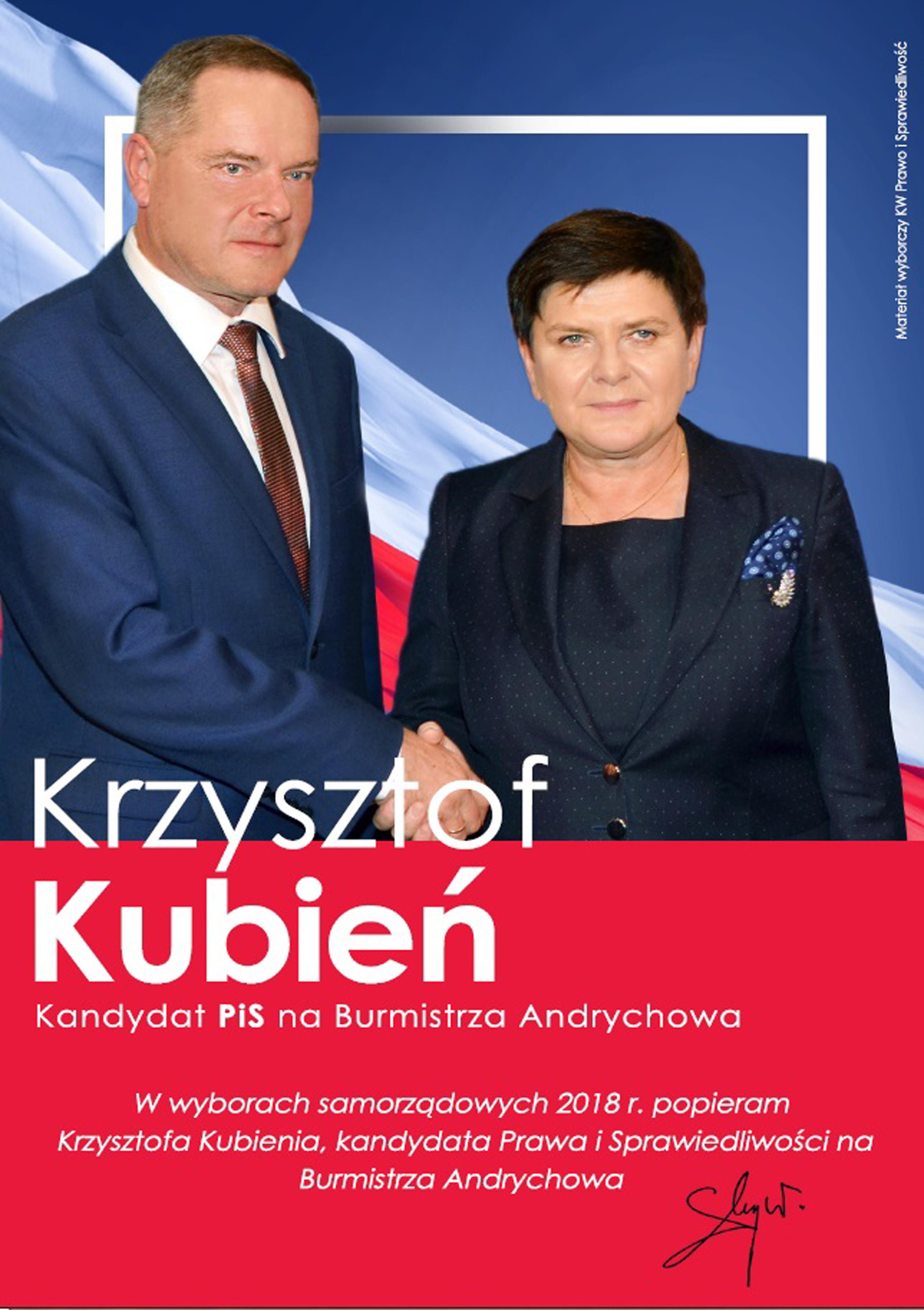 Rekomendacja Wiceprezes Rady Ministrów Pani Beaty Szydło