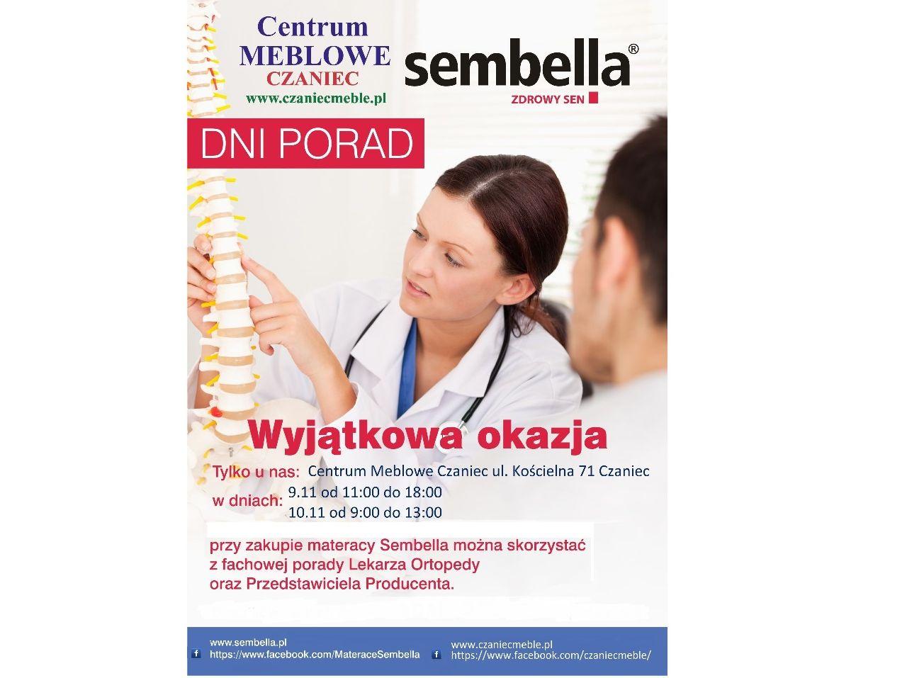 Kup materac podczas Dni Porad Sembella z lekarzem ortopedą