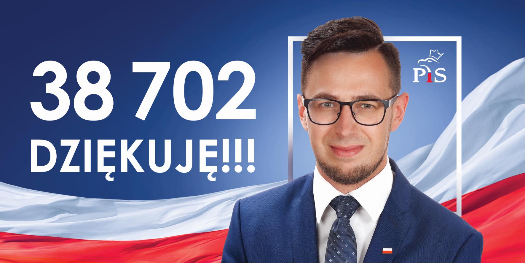 Radny wojewódzki Filip Kaczyński dziękuje za poparcie w wyborach