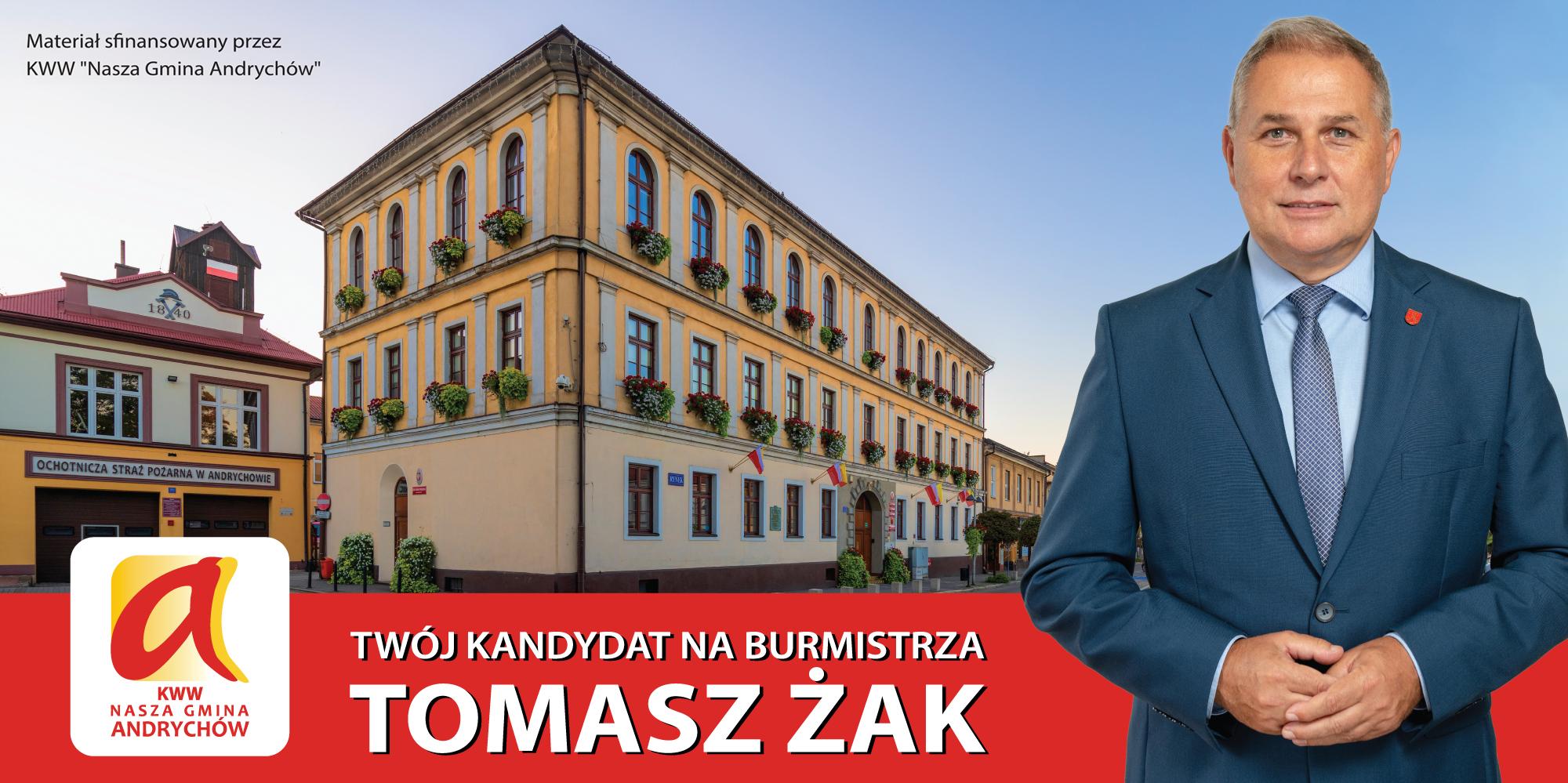 List burmistrza Andrychowa Tomasza Żaka do mieszkańców