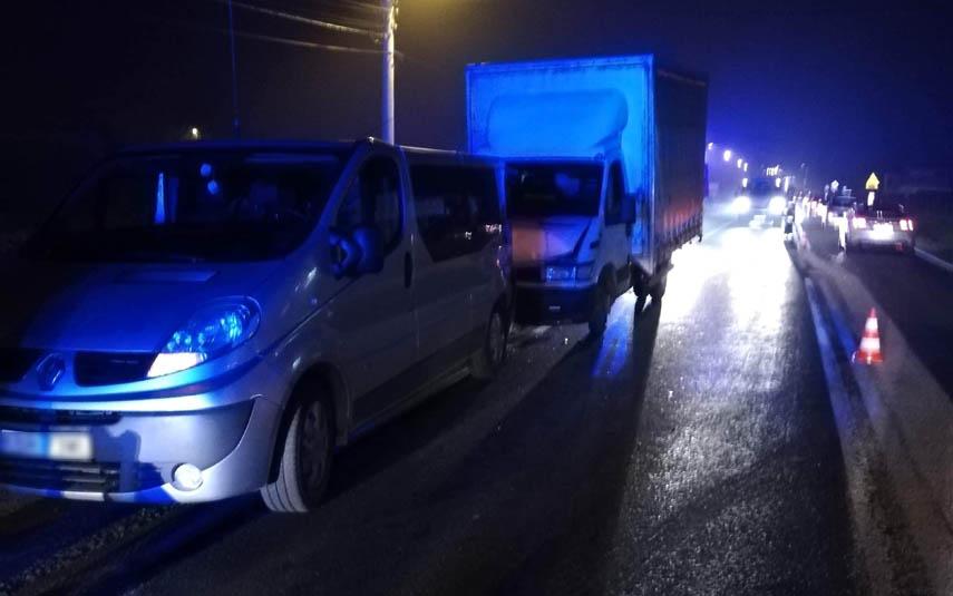 Zderzenie na drodze krajowej w Choczni