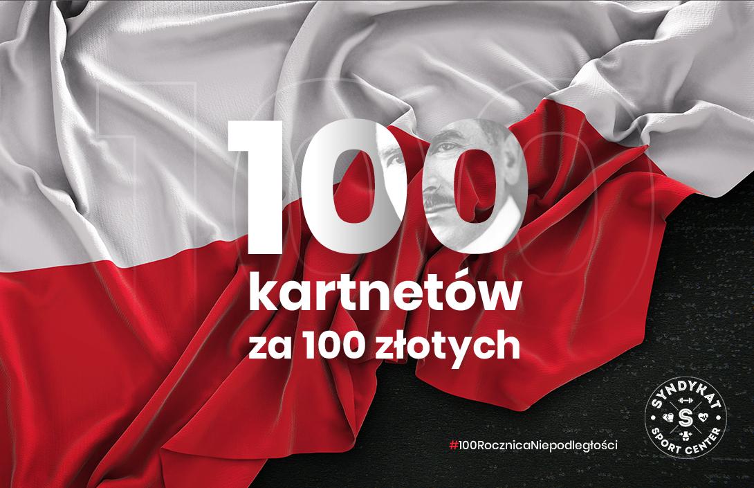 100 karnetów za 100 zł na 100 lat niepodległości - sprawdź, o co chodzi!