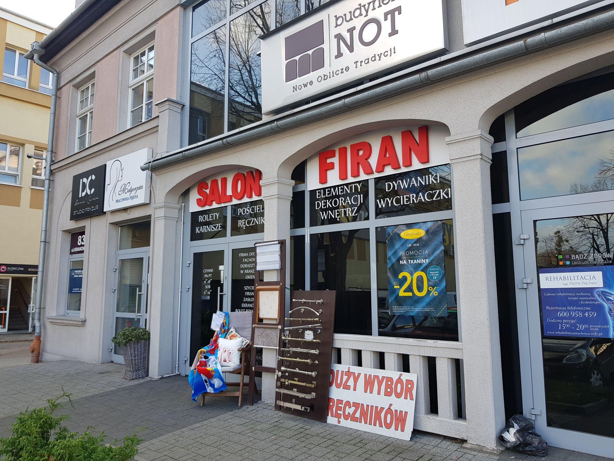 Jesienne promocje w Salonie Firan w budynku NOT w Andrychowie