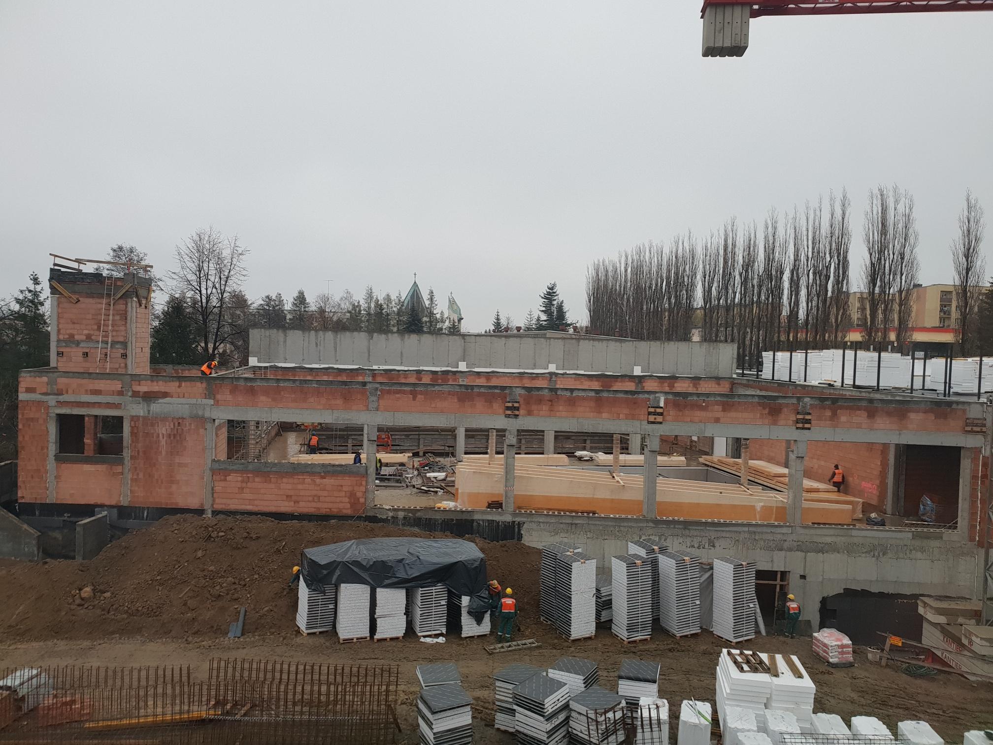 Zaglądamy na plac budowy basenu krytego basenu w Andrychowie [FOTO]