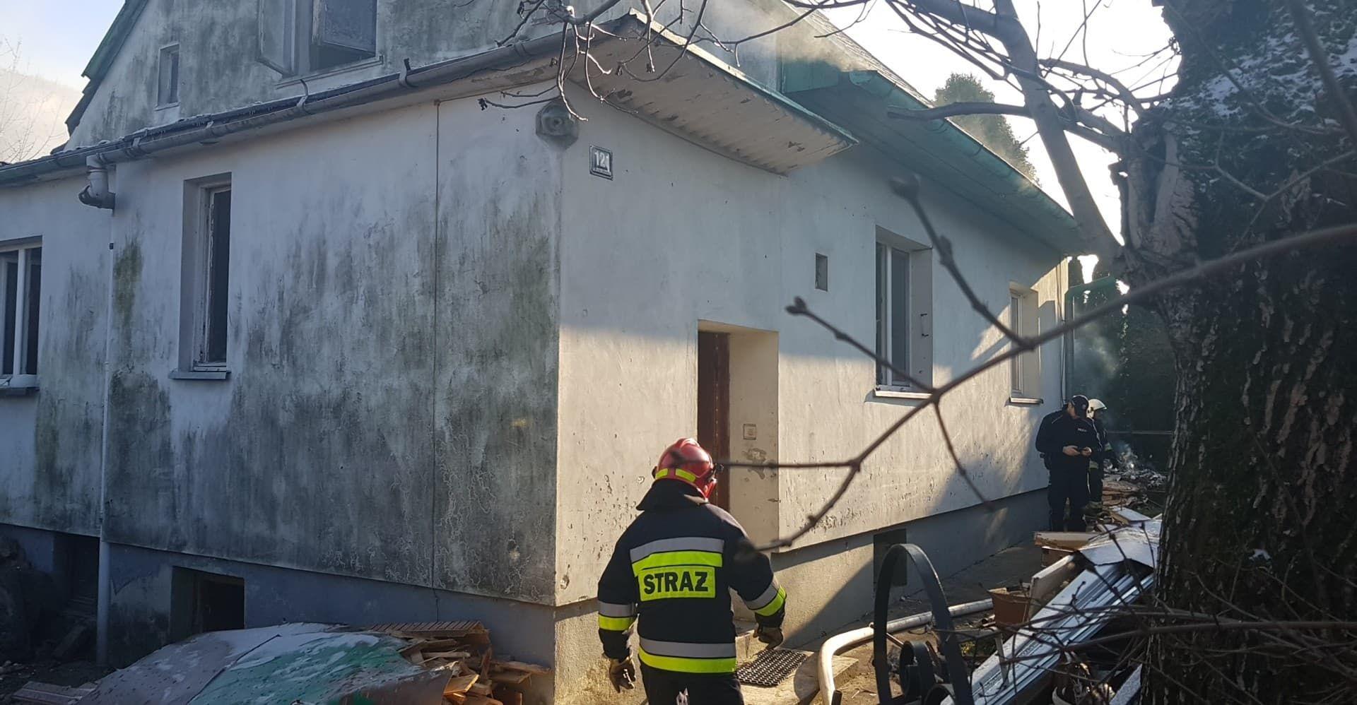 Pożar budynku na Beskidzkiej