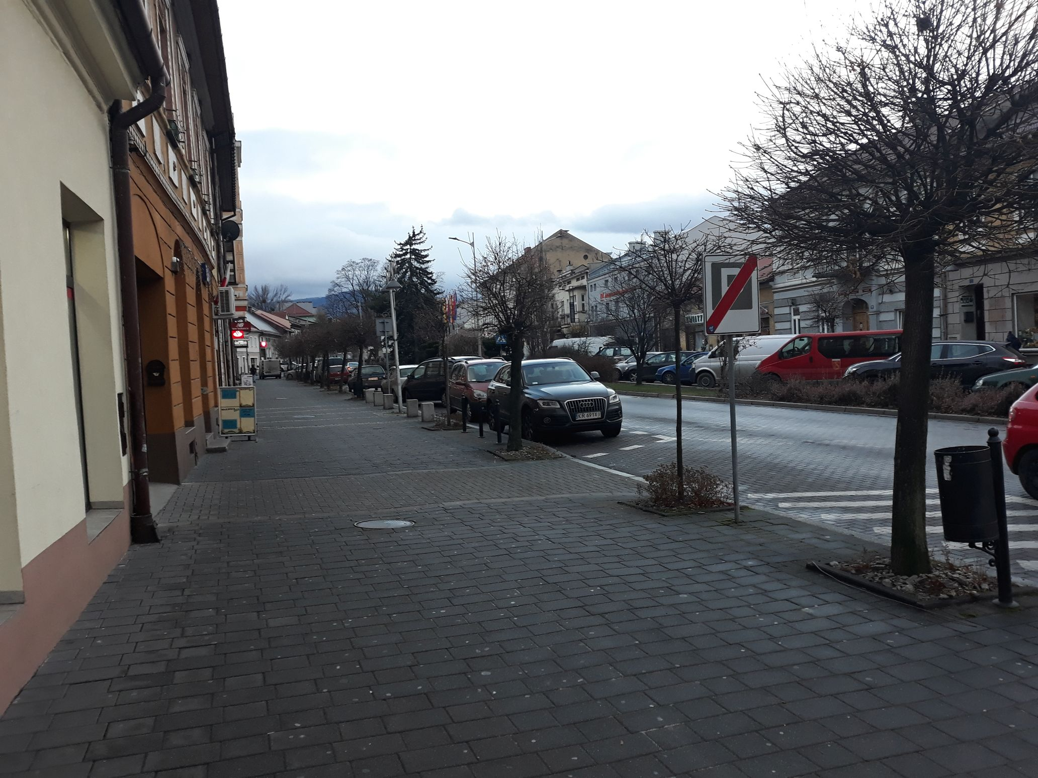 Niebezpiecznie w centrum Andrychowa