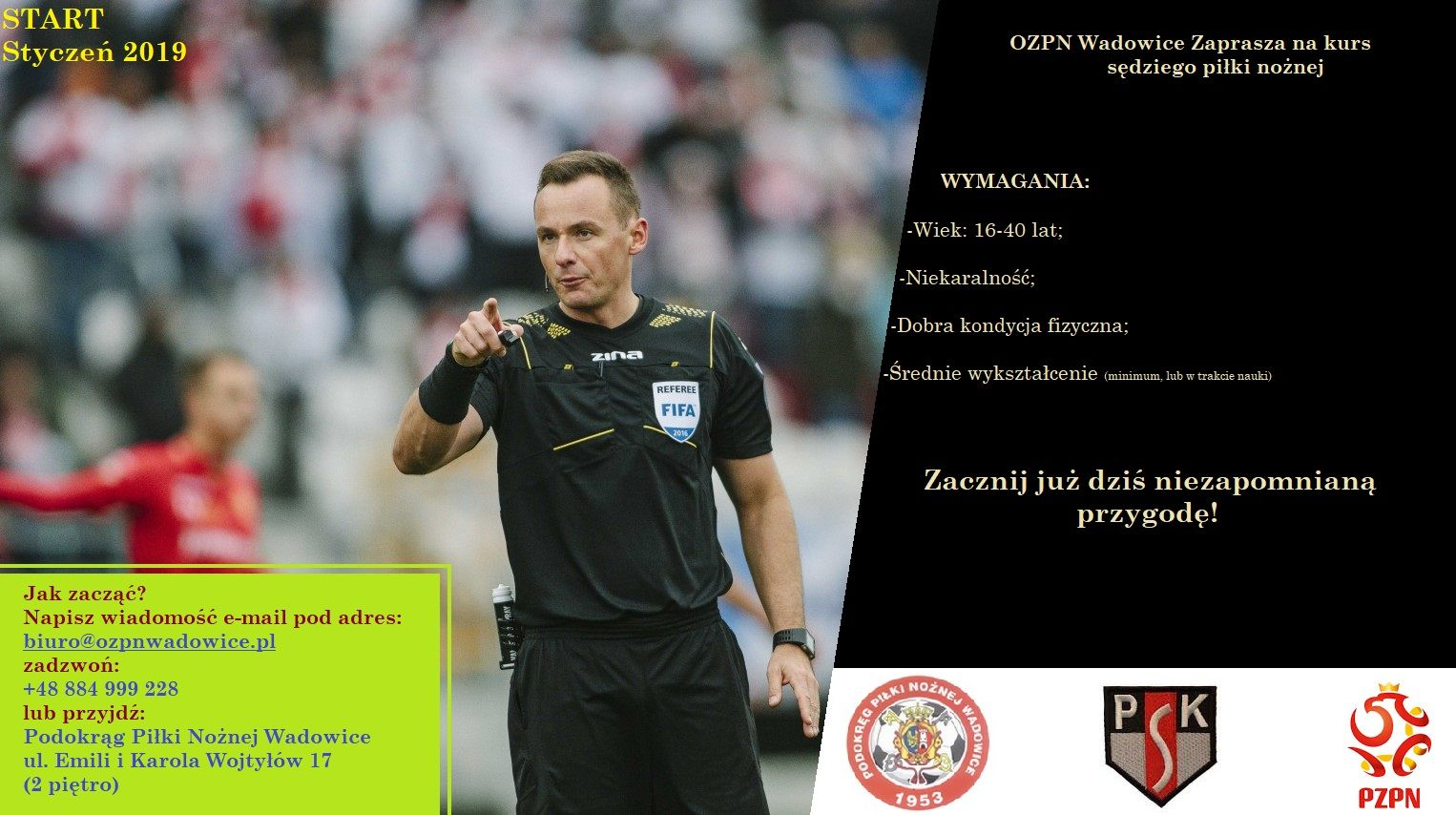 OZPN Wadowice zaprasza na kurs sędziego piłki nożnej