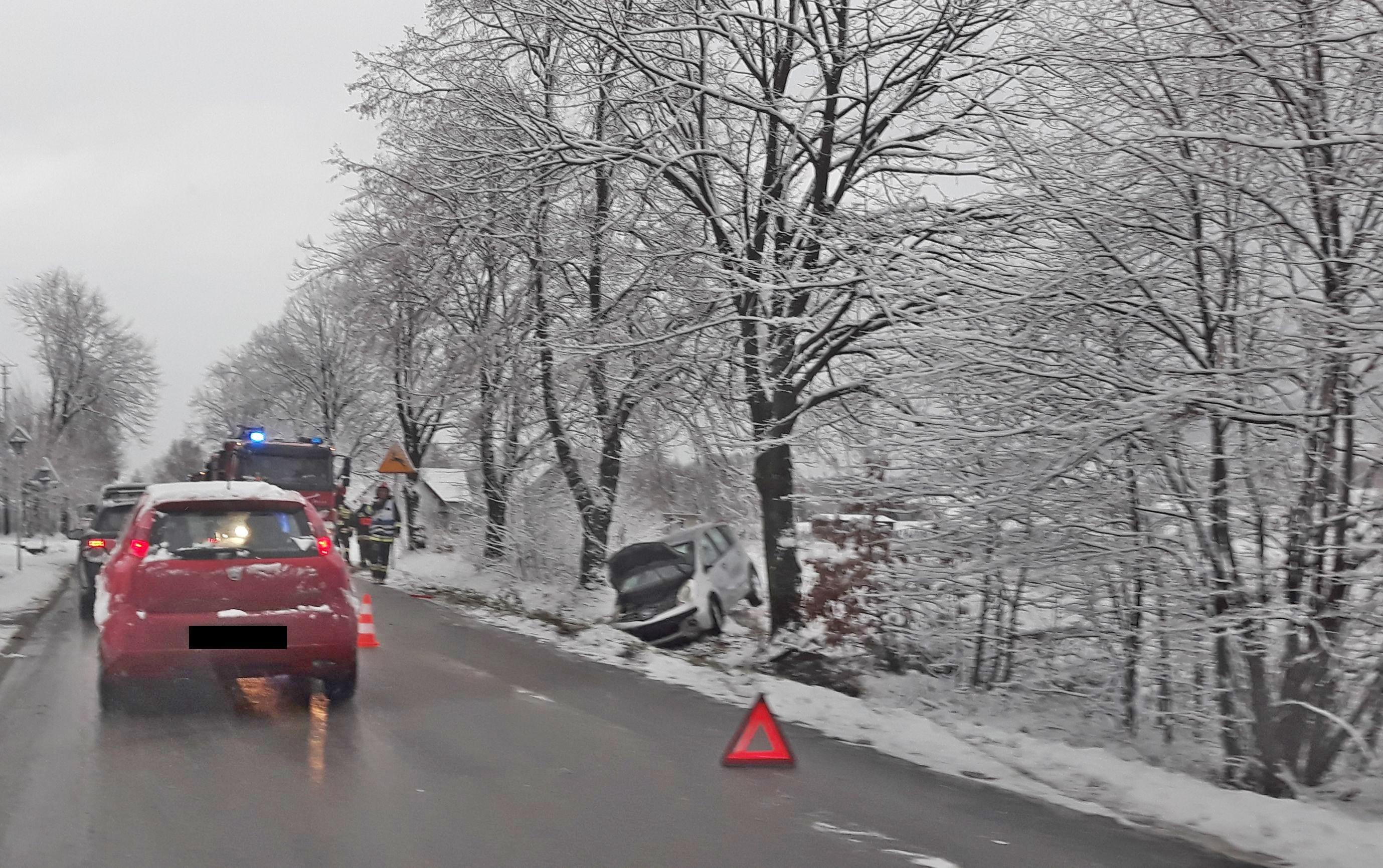 Zima na drogach. Uważajcie