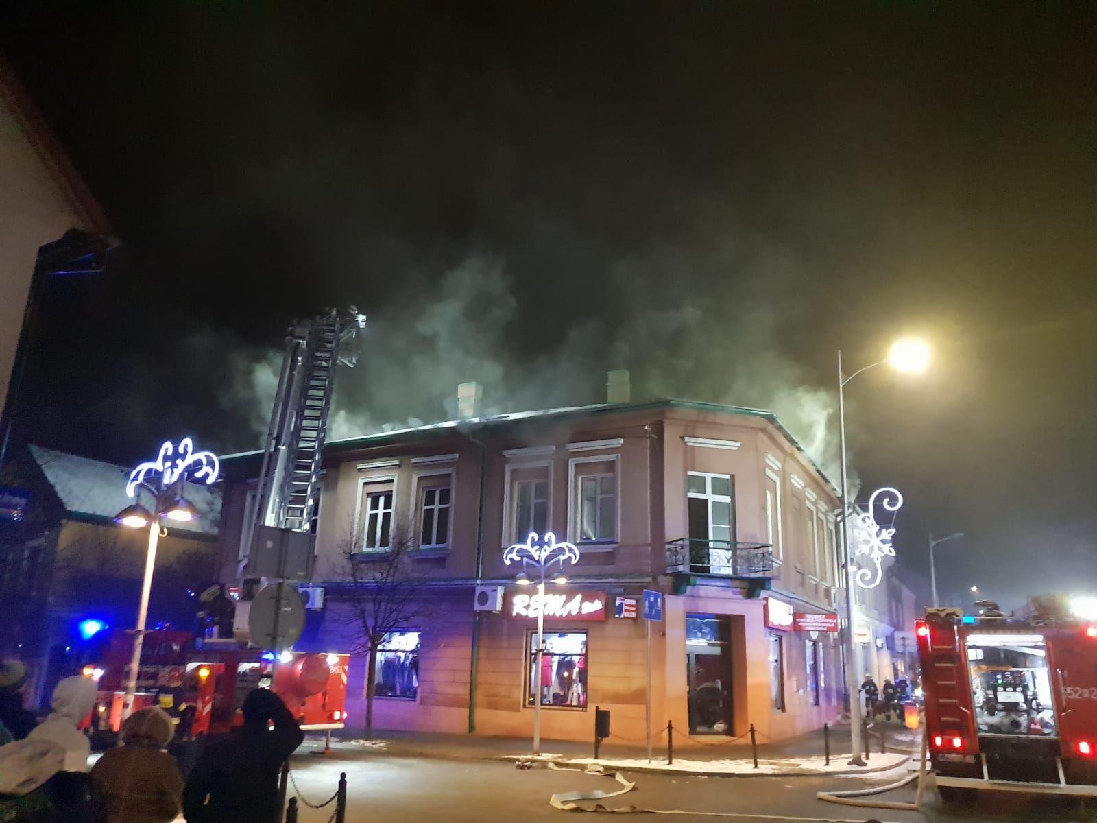 Alarm w Andrychowie. Pożary w centrum miasta [FOTO] [AKTUALIZACJA]