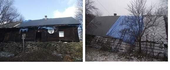 Trwa remont budynku uszkodzonego przez wichurę na Trzonce
