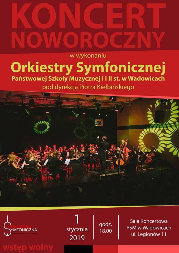 1 stycznia - Koncert Noworoczny. Wstęp wolny