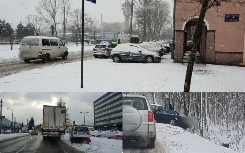 Zimowy czwartek. Policjanci mają pełne ręce roboty na drogach [FOTO]