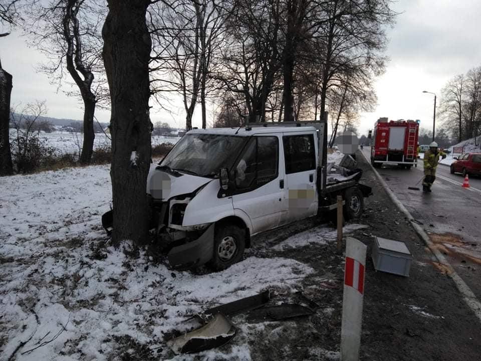Zderzenie trzech samochodów na Wadowickiej