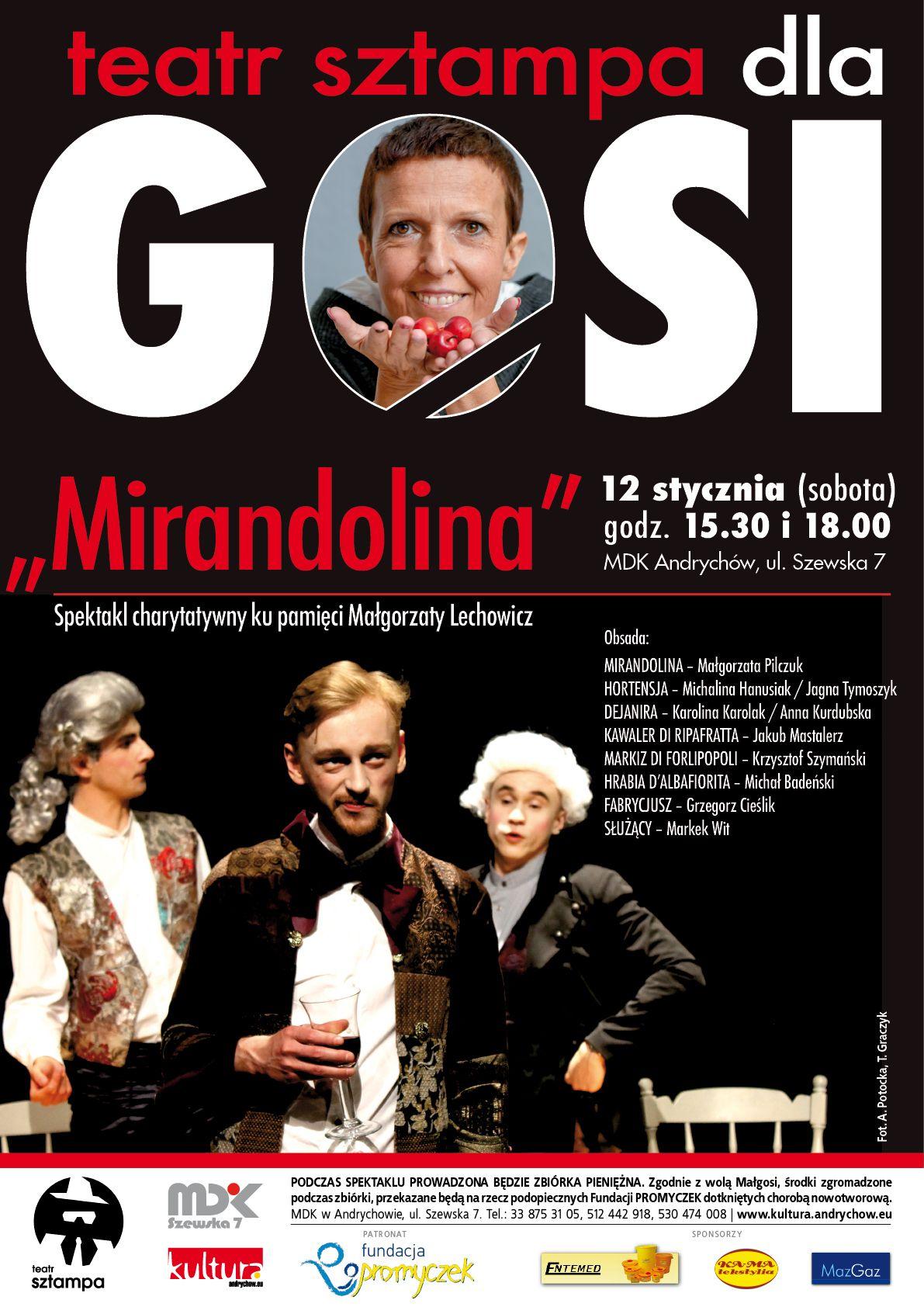 Teatr Sztampa ku pamięci Gosi Lechowicz