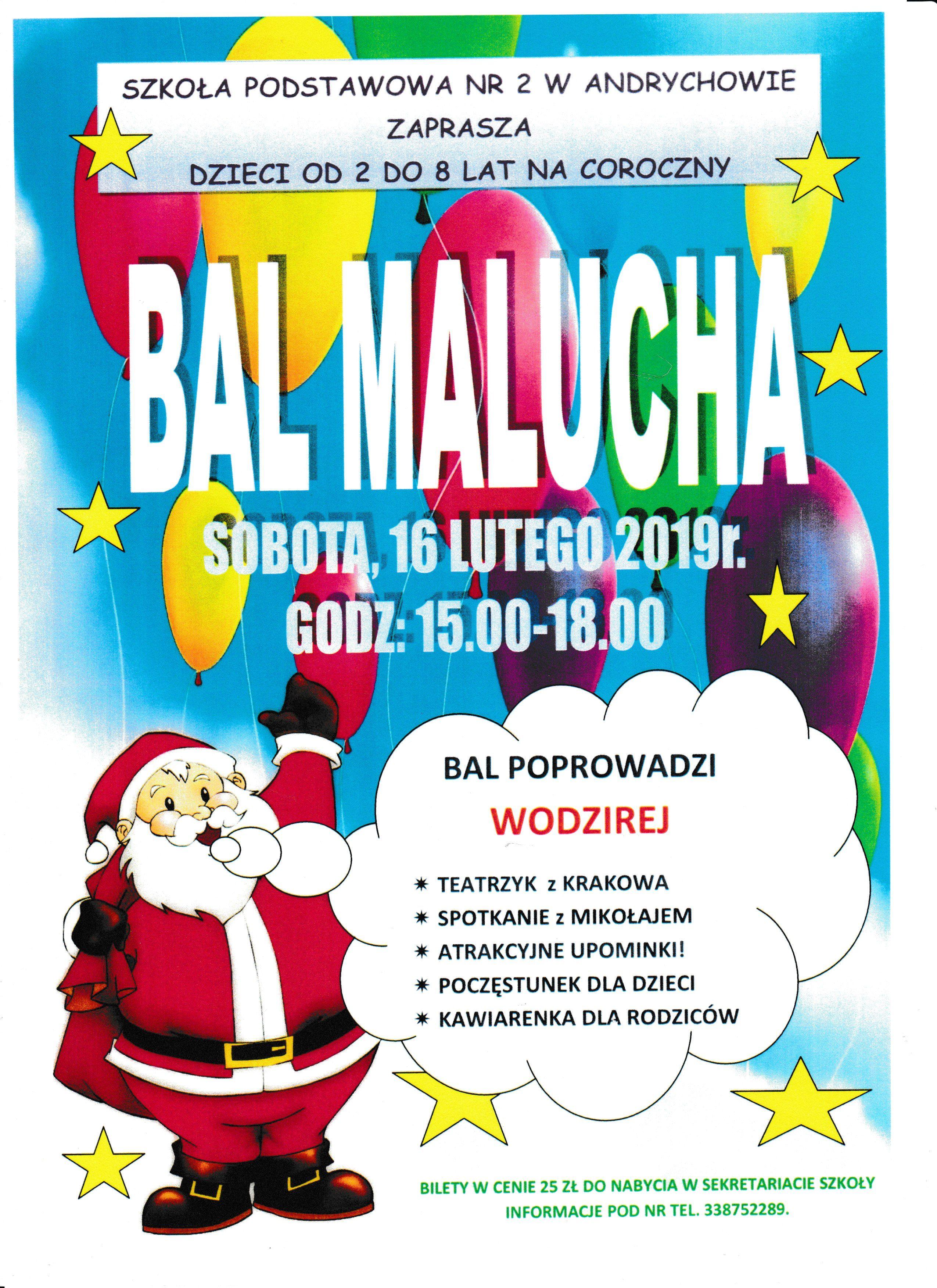 Kolejna edycja Balu Malucha w SP2. Zapisy już trwają