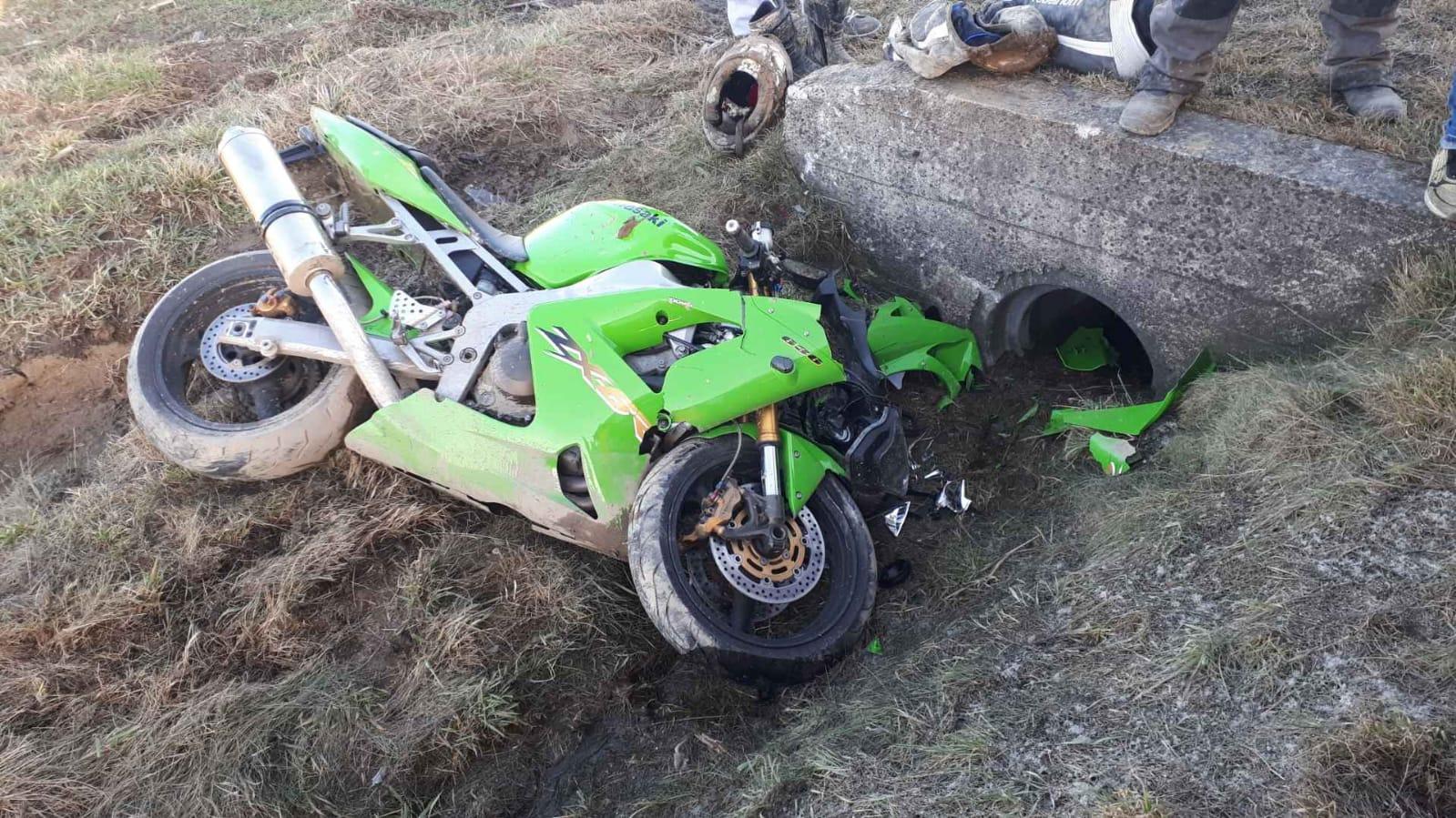 Motocyklista ranny w wypadku [AKTUALIZACJA]