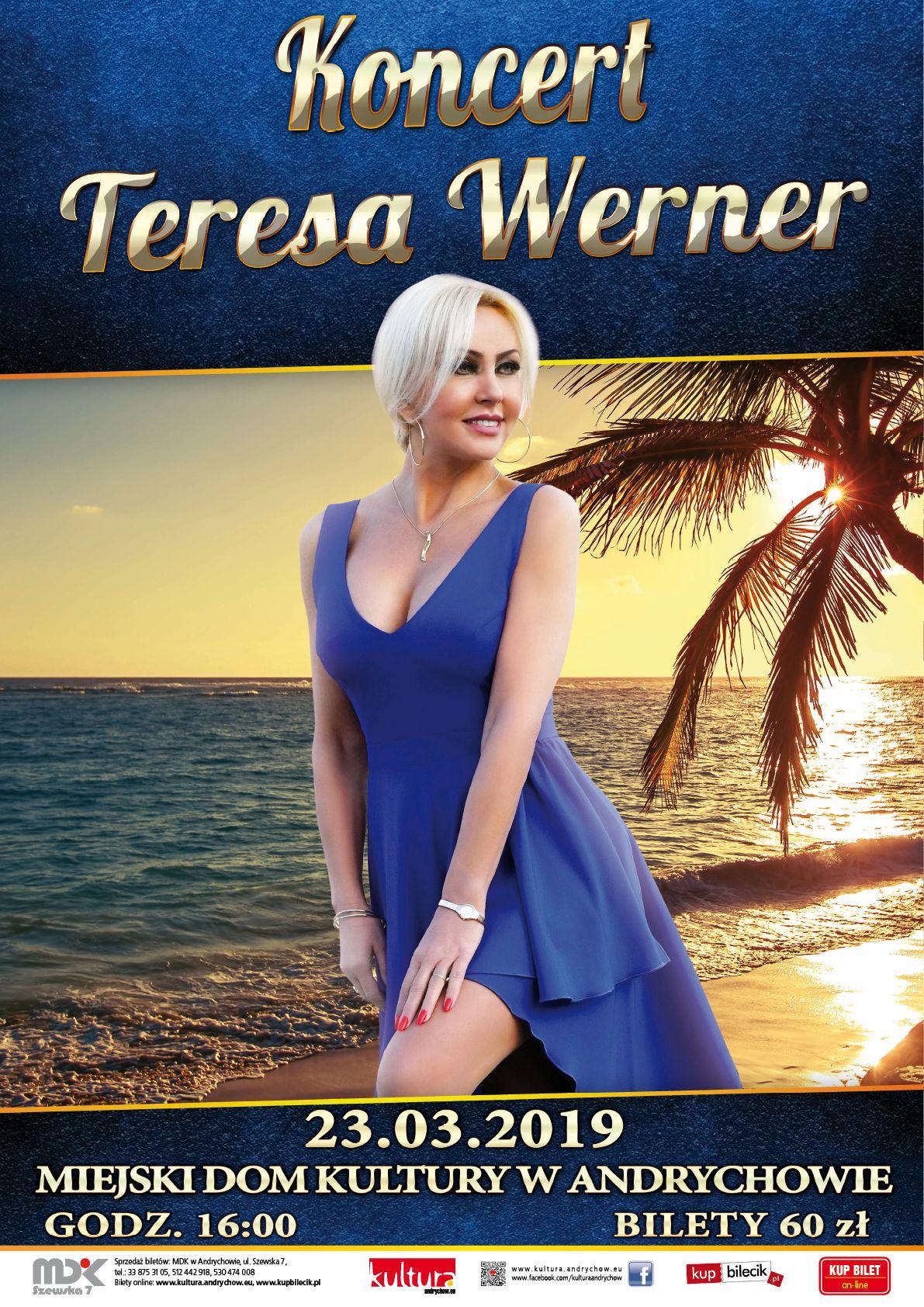 Uwaga! Ostatnie wolne bilety na koncert Teresy Werner