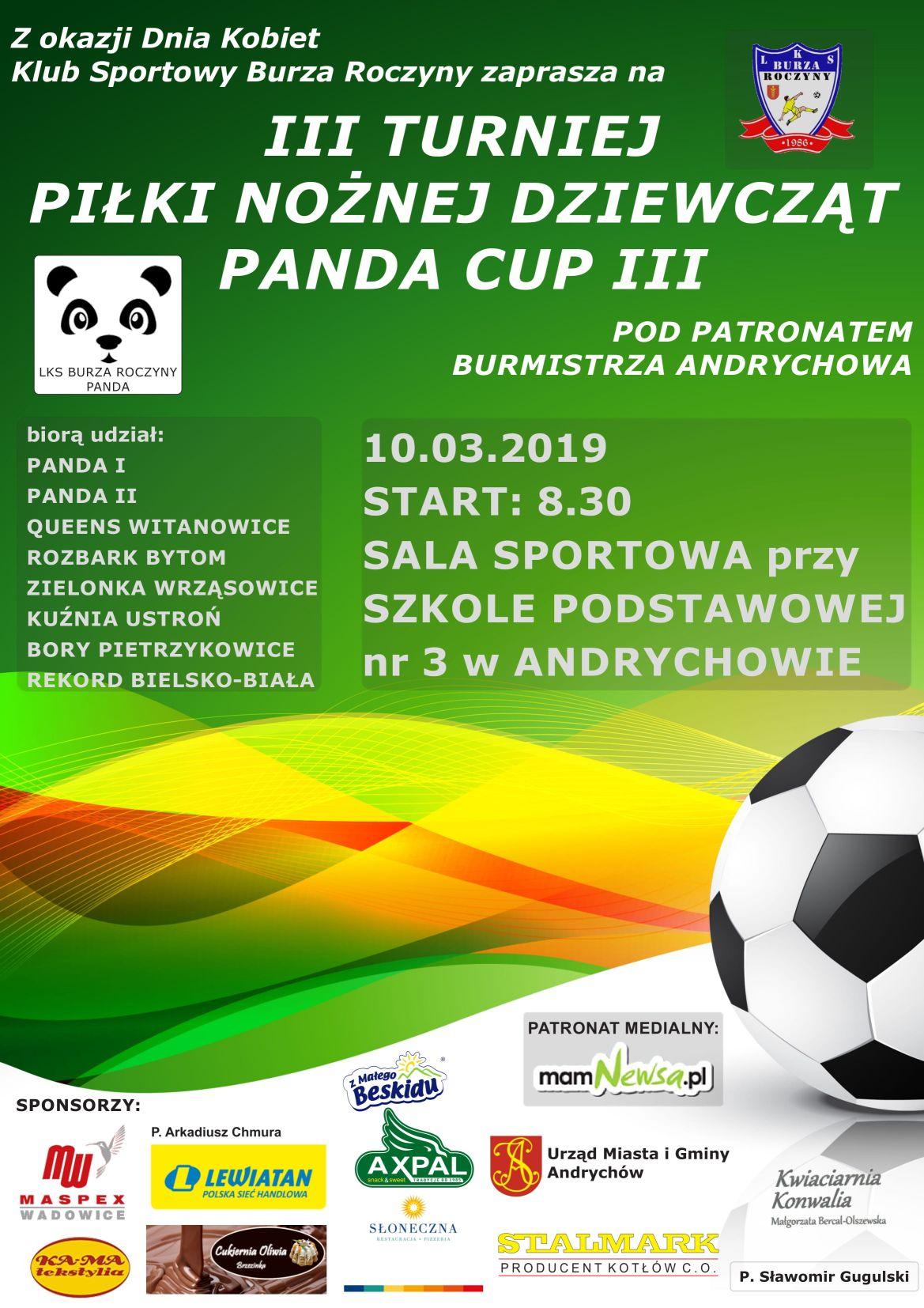 Turniej piłkarski dziewcząt na Dzień Kobiet