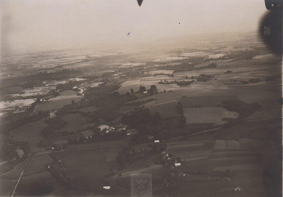 Unikalne zdjęcia lotnicze Andrychowa, Kęt i okolic  z 1926 roku. To trzeba zobaczyć