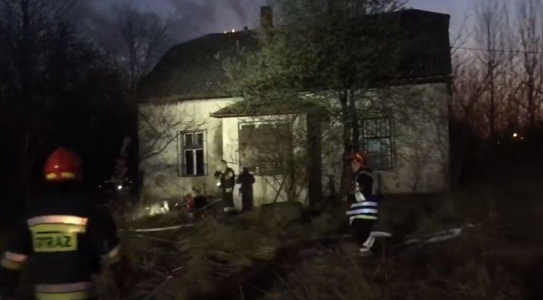 Pożar budynku w Wadowicach