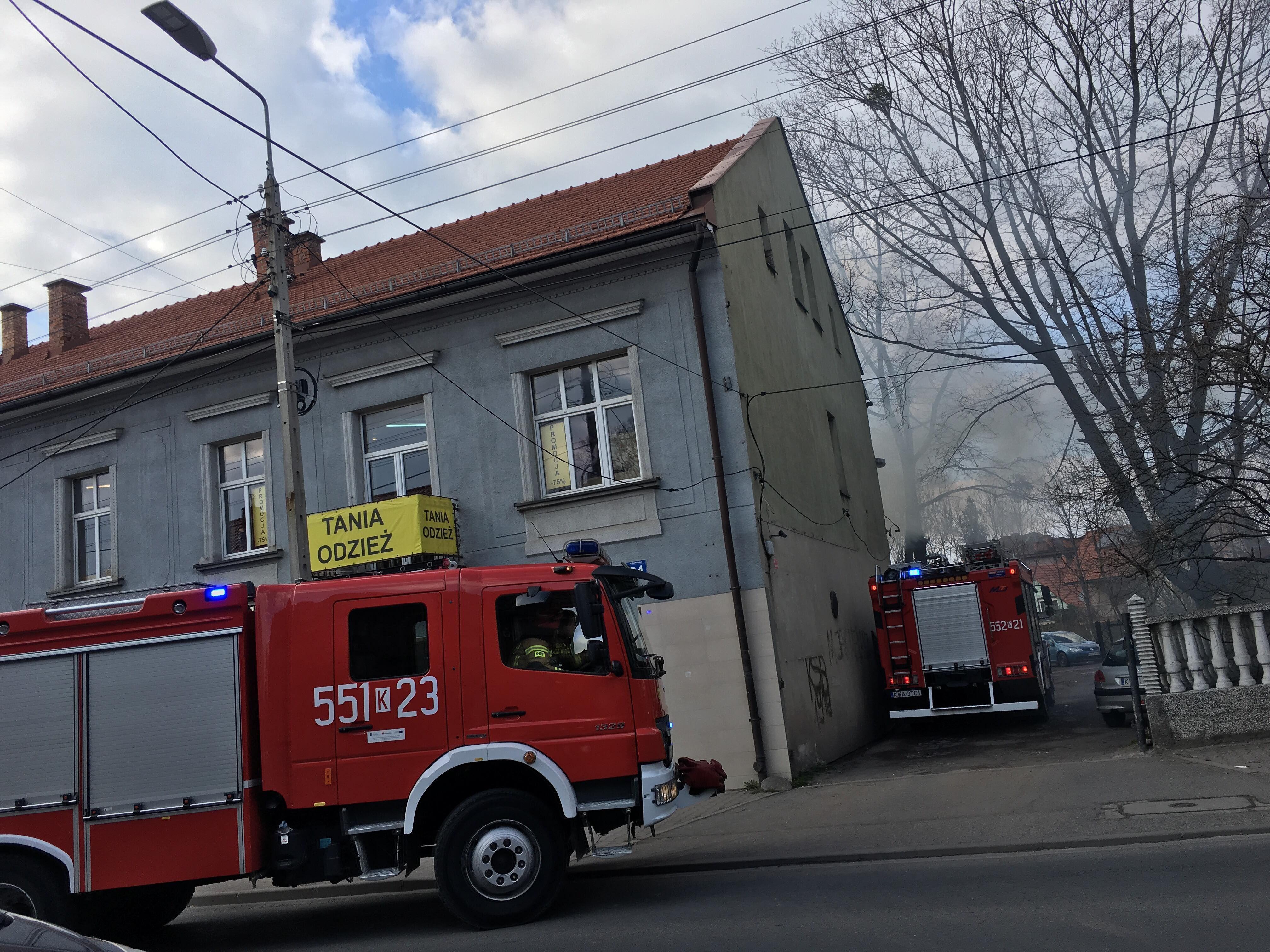 Pożar w budynku na Krakowskiej