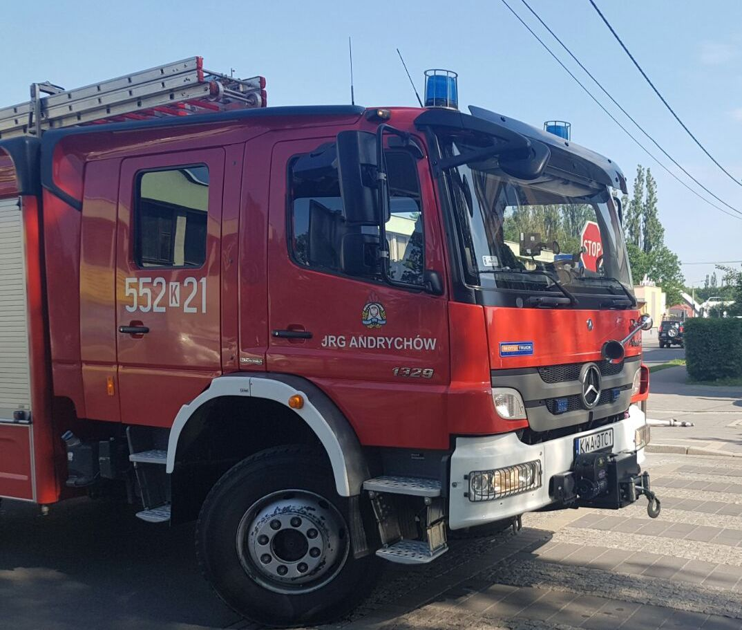 Strażacy gasili pożar wędzarni