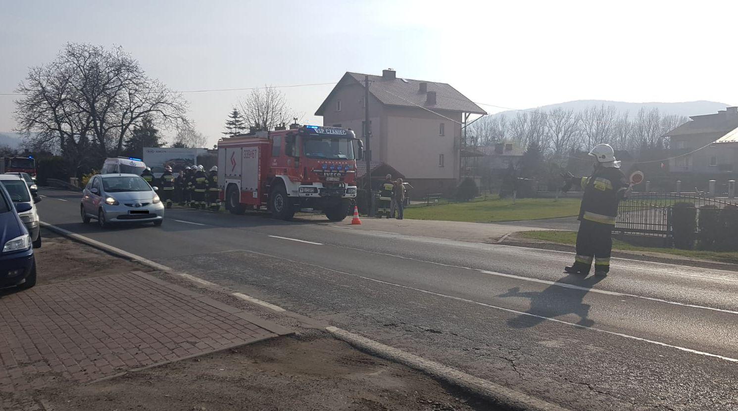 Wypadek na krajówce w Czańcu