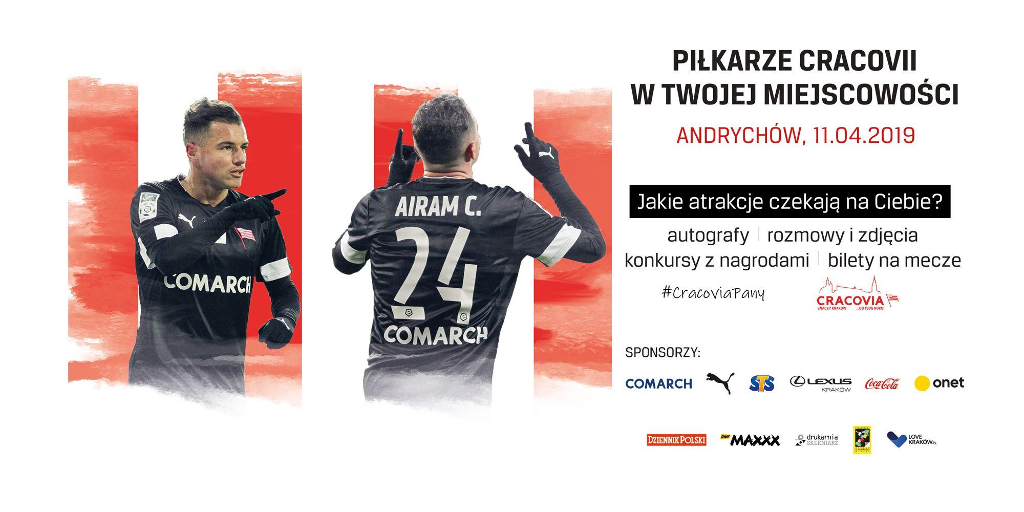Cracovia przyjeżdża promować się do Andrychowa