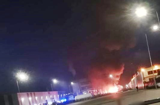 Ogromny pożar w Wadowicach