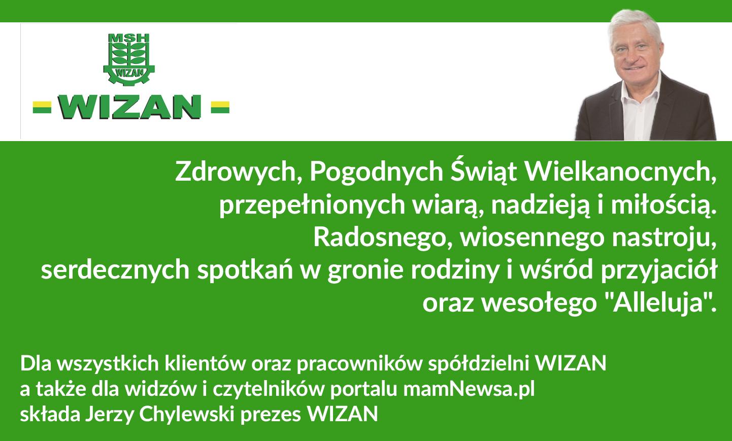 Życzenia świąteczne od prezesa Wizanu Jerzego Chylewskiego