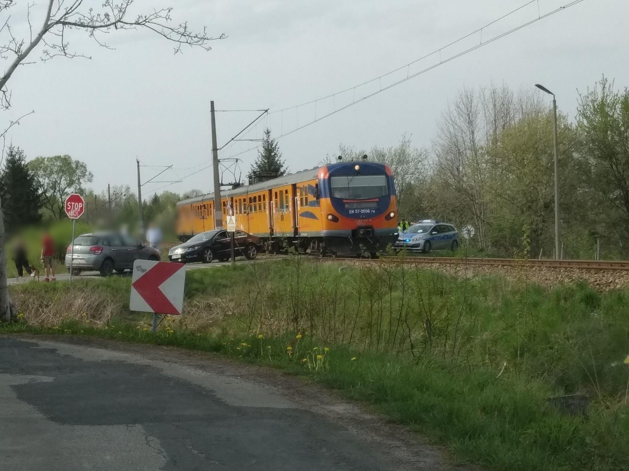 Kolizja na przejeździe kolejowym w Andrychowie