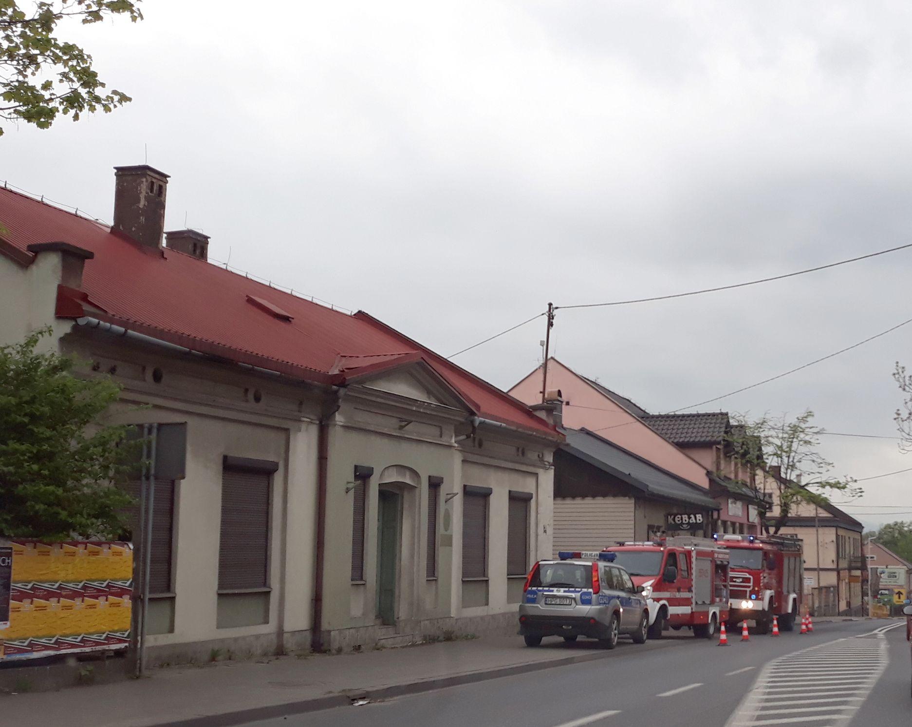 Interwencja strażaków w budynku na Krakowskiej w Andrychowie