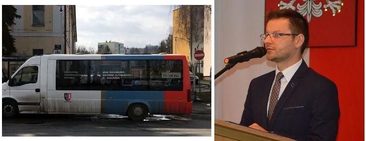 Po fali krytyki burmistrz na razie nie likwiduje darmowego busa