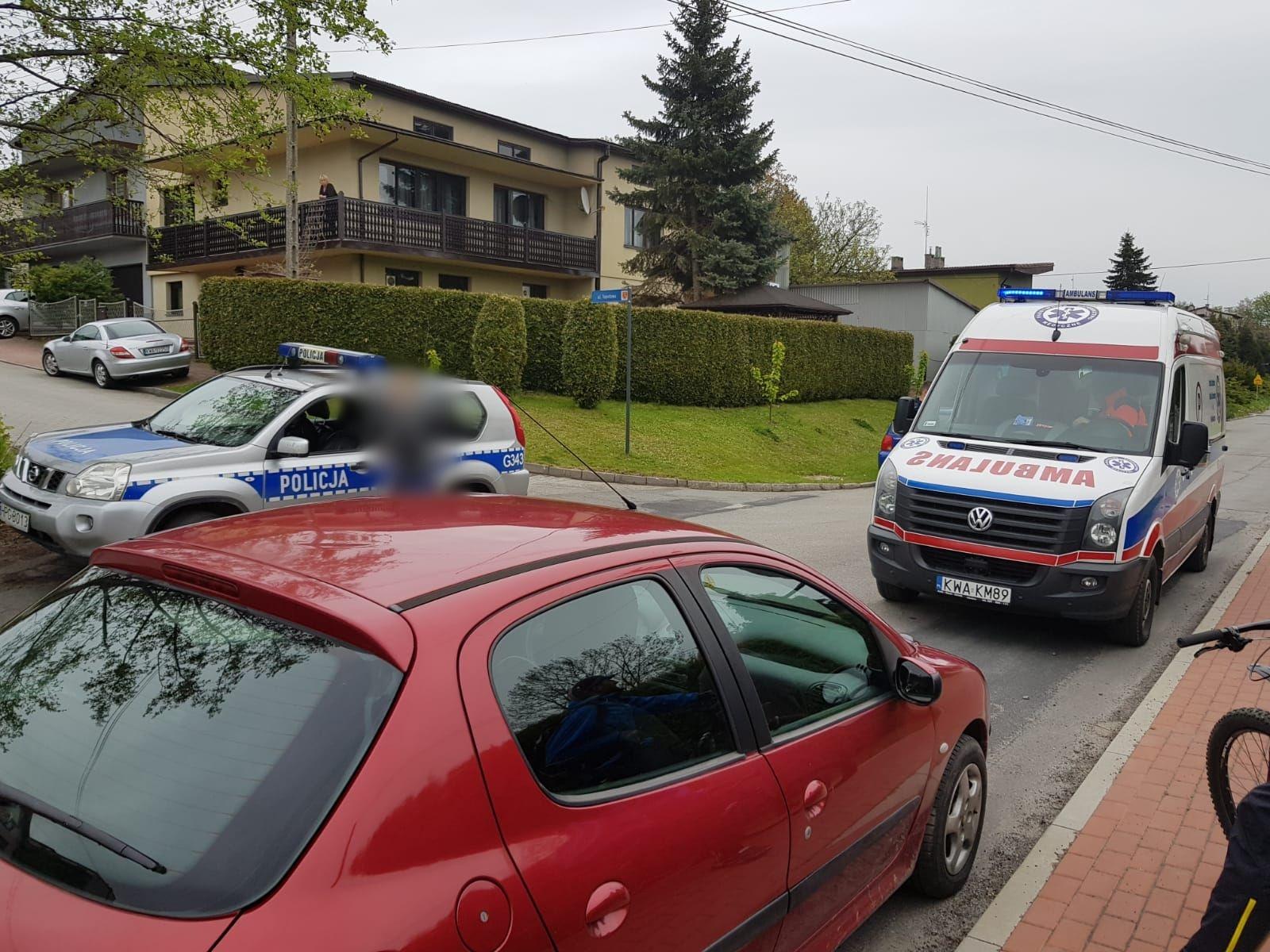 Potrącenie dziecka przez samochód w Andrychowie
