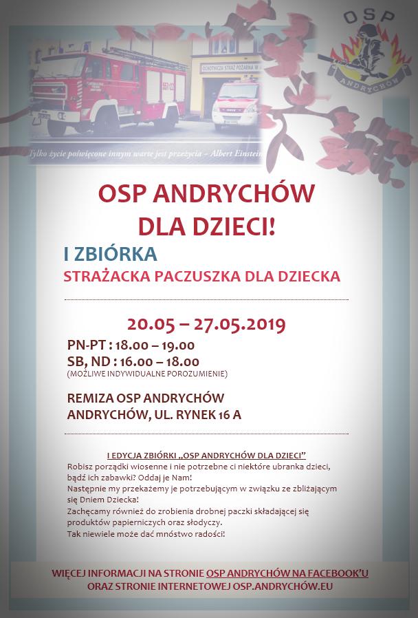 Akcja OSP Andrychów dla dzieci. Każdy może się przyłączyć