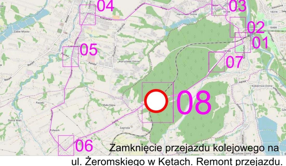 Do 31 maja zamknięty będzie przejazd na drodze w Kętach Podlesiu